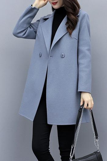 龙凤呢实拍现货#毛呢外套女中长款2019秋冬新款韩版气质呢子大衣