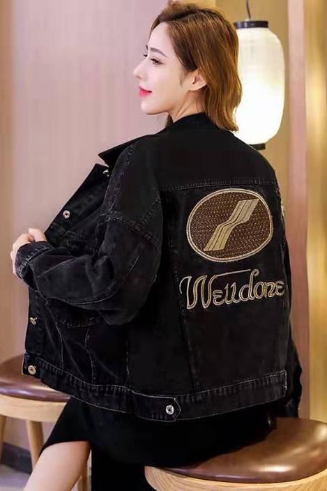 实拍2020春季新款百搭短款牛仔外套女宽松韩版BF短外套夹克上衣