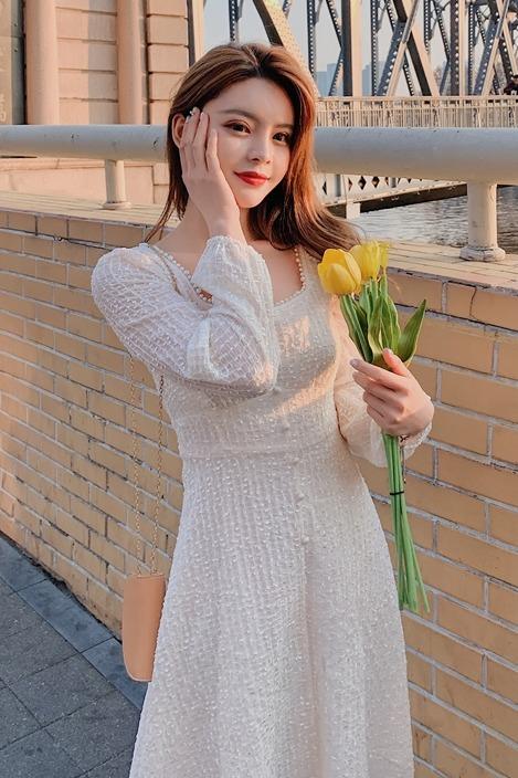 实拍~~2020新款裙子收腰气质法式复古温柔仙女超仙小香风连衣裙