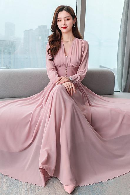 2020年新款法式复古雪纺连衣裙法式桔梗智熏裙子仙女超仙