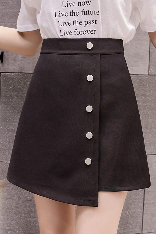 一步裙新款半身裙2020春季韩版不规则显瘦包臀内衬高腰a字裙女