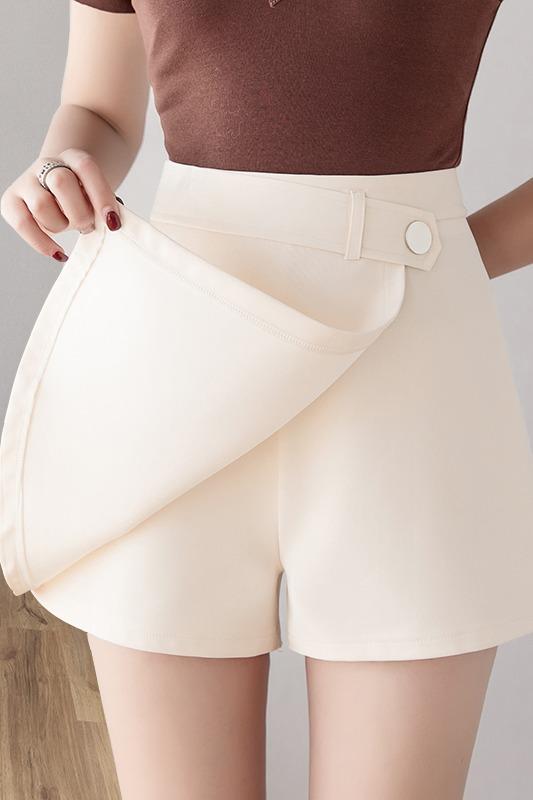 高腰a字短裤女夏2020新款春季显瘦外穿西装裤潮大码阔腿休闲裤子