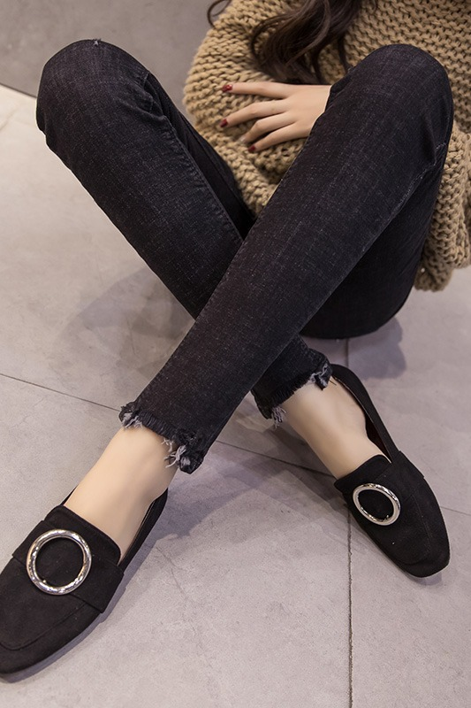 实拍现货牛仔裤女高腰紧身修身显瘦显高2020春夏新款黑色小脚裤子