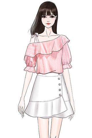 实拍夏季露肩雪纺吊带上衣衬衫+单排扣显瘦鱼尾半身裙时尚套装