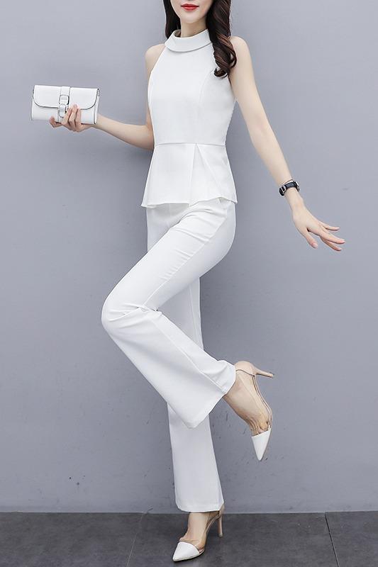 实拍2020春夏新品两件套韩版长裤套装