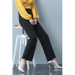 阔腿裤女高腰垂感春装直筒宽松黑色日系百搭显瘦西装休闲拖地裤子