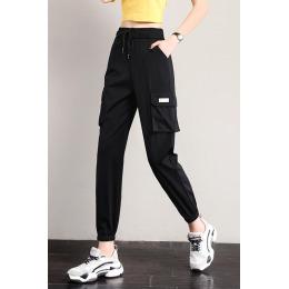 实拍2020夏季休闲运动裤宽松束脚薄款显瘦哈伦百搭九分裤哈伦卫裤
