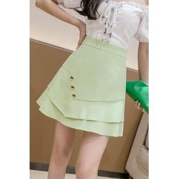 夏新款高腰显瘦a字鱼尾包臀裙时尚设计感不规则防走光短裙裙裤女