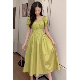 实拍2020夏季新款单排扣个性淑女新款连衣裙