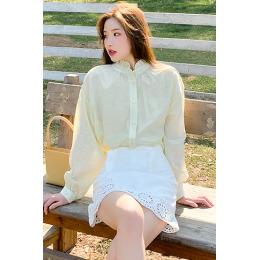 实拍~2020年夏新款衬衫套装两件套洋气防晒衫蕾丝包臀半身裙