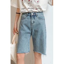 实拍 有视频 牛仔五分裤女2020夏季韩版宽松百搭显瘦阔腿短裤