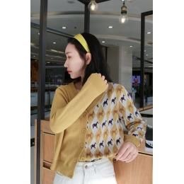 韩版短外套女士毛衣2020春秋季新款V领ins潮宽松针织开衫外穿上衣