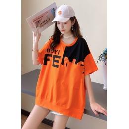 实拍原创100%短袖t恤女韩版宽松遮肚子纯棉短袖上衣夏季