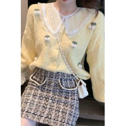 日系毛衣女秋冬外穿2020韩版宽松洋气百搭温柔风针织开衫外套长袖