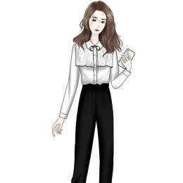 职业装2020年早秋新款韩版气质女神范雪纺衬衫西装裤两件套洋气