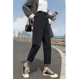 2020 新款直筒牛仔裤女高腰显瘦韩版休闲阔腿裤港风牛仔裤女宽松