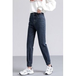 2020秋冬新款大码弹力松紧腰修身显瘦显高哈伦裤