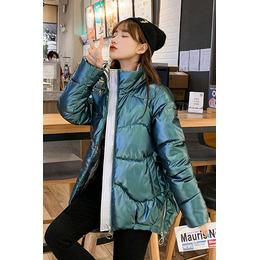 实拍短款棉衣女2020冬季新款韩版宽松亮面羽绒服棉服时尚外套