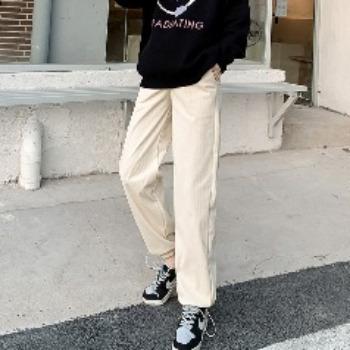 实拍灯芯绒孕妇裤子秋冬外穿休闲阔腿裤打底裤加绒加厚春秋长裤
